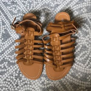 Soft leather sandals